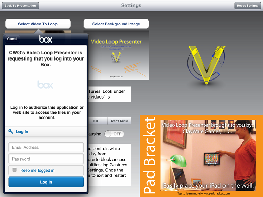 Loop videos in vloop from box.com